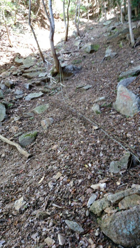 三重 仙ヶ岳 南尾根コース 不動明王直前の登