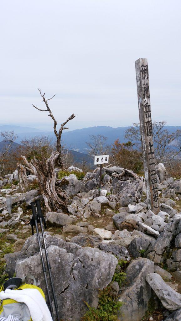 三重 御池岳山頂