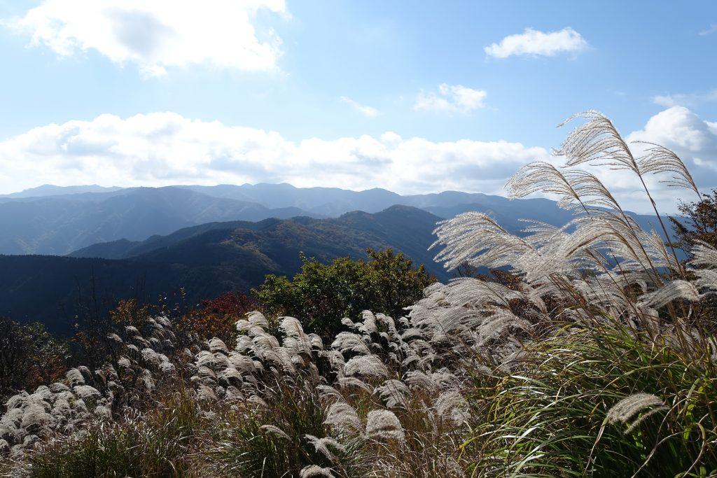 三重 高見山山腹展望台からの台高山脈