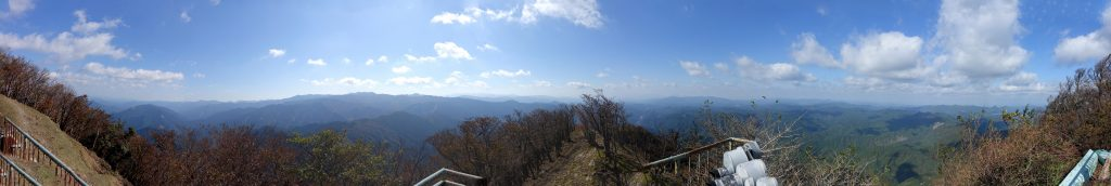 高見山山頂から約270度パノラマ