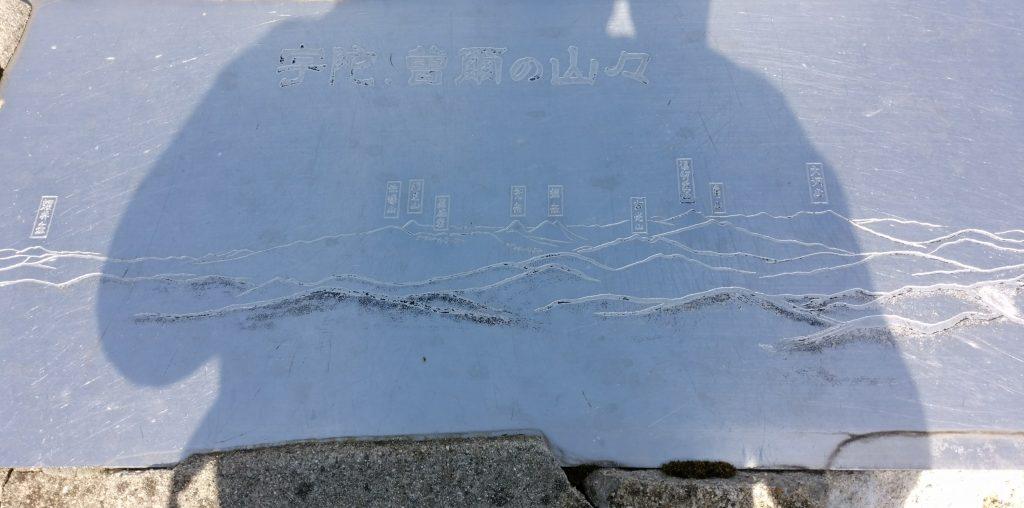 三重 高見山山頂案内版 俱留尊 宇陀方面