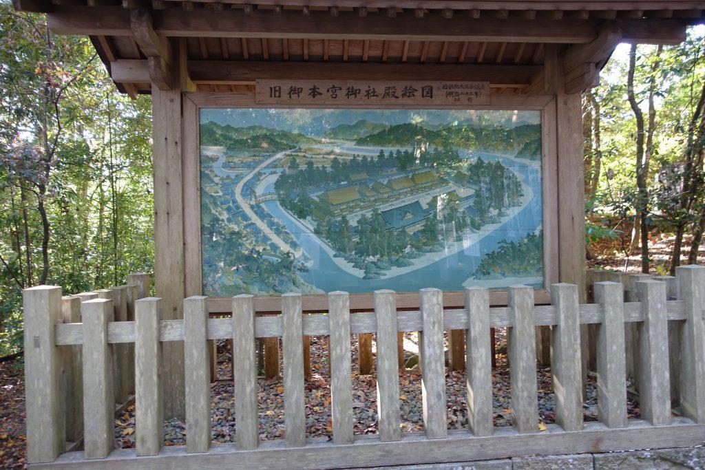 和歌山 熊野本宮大社 以前の宮は河原にあったの図