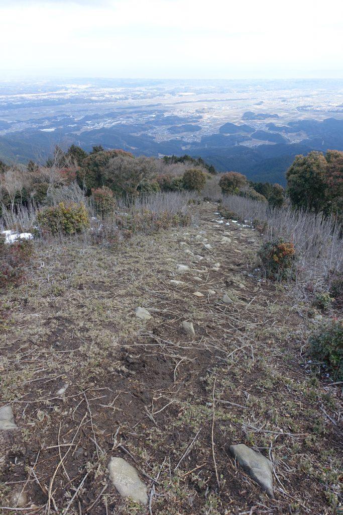 三重 経ヶ峰 パノラマルート下りからの眺め