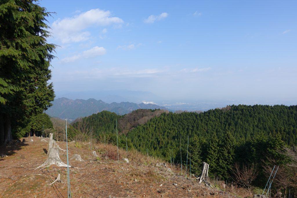 三重 経ヶ峰 笹子谷ルート 尾根から振り返る