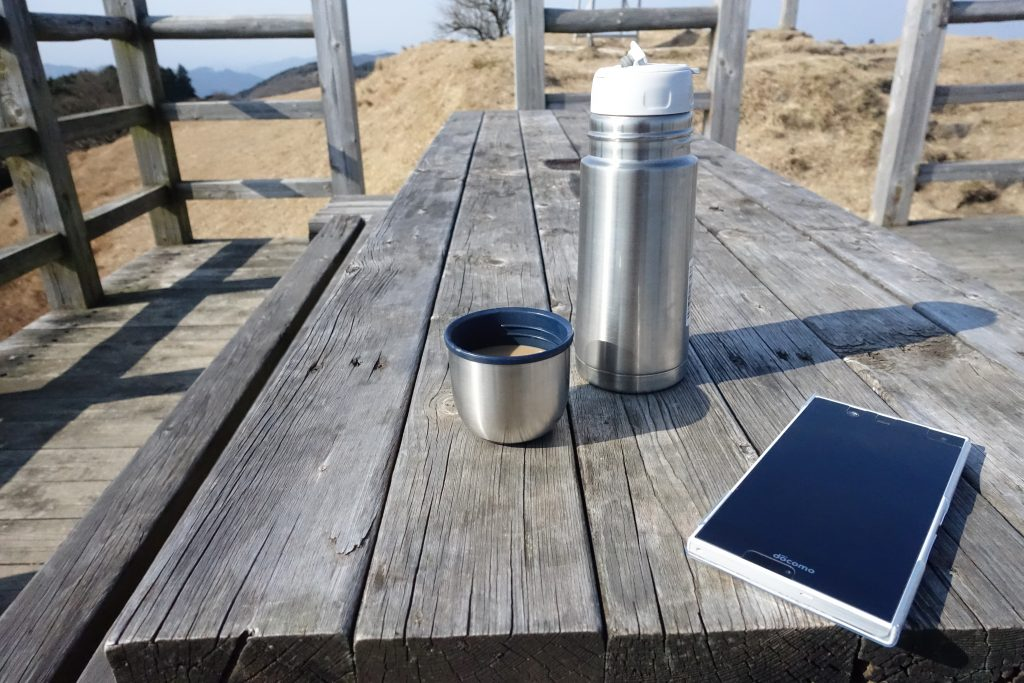 三重 経ヶ峰 山頂でコーヒー