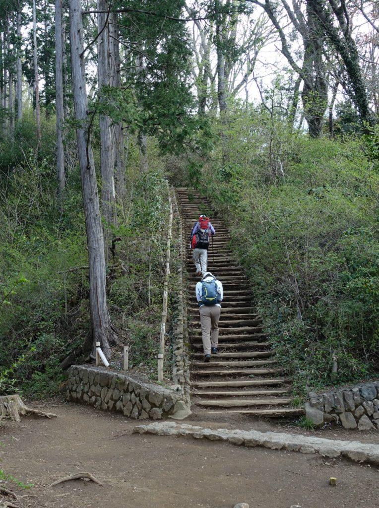東京高尾山稲荷山ルート 最後の階段