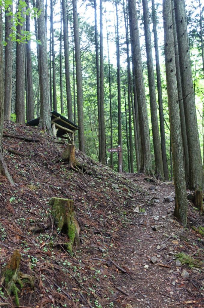 東京 六ツ石山 水根沢ルート後半 休憩所が見えてきた。